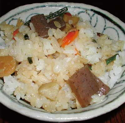 Rice with added ingredients