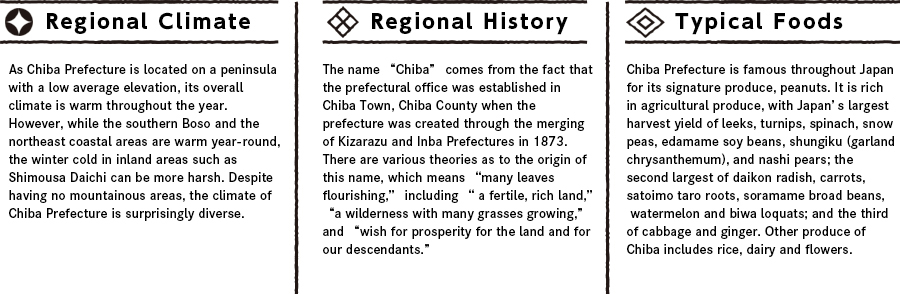 Chibaの特徴