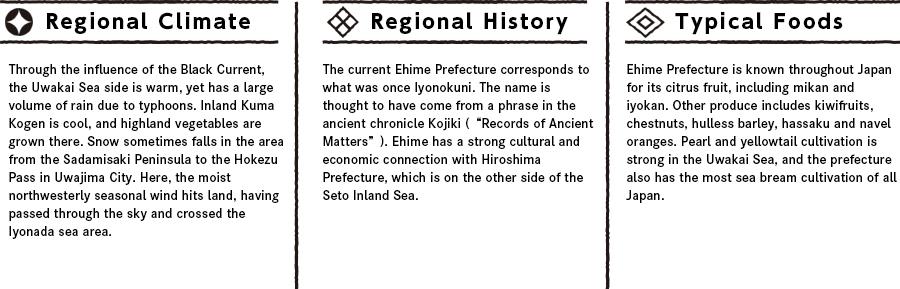 Ehimeの特徴