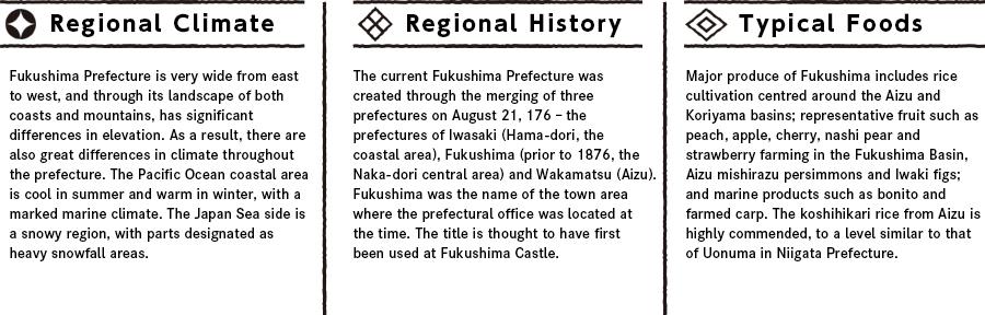 Fukushimaの特徴