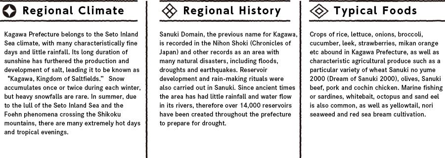 Kagawaの特徴