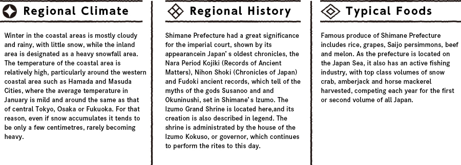 Shimaneの特徴