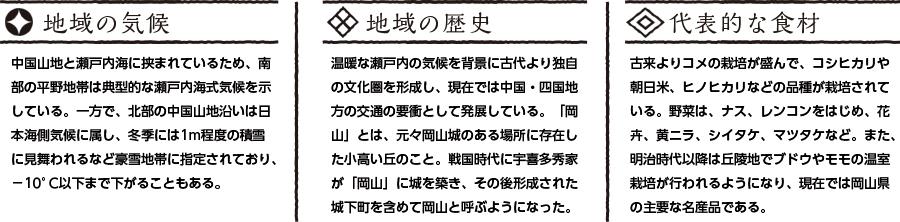 岡山県の特徴