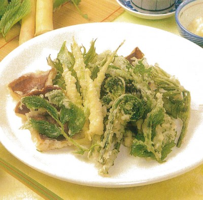 Tempura of wild vegetable