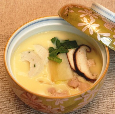 Harusame Chawanmushi (Egg pudding with bean-starch vermicelli)