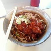 Karaage (fried chicken) Soba