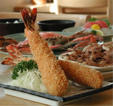 Famous fried prawns of enormous size
