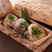 Ryoma Sakamoto leaveng-the-domain rice ball