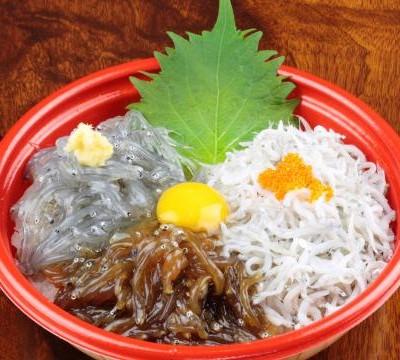 湘南しらすの小田原三色丼