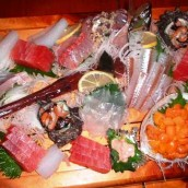 Raw fish dishes