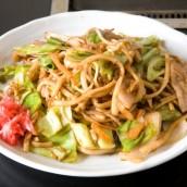 Kokura style fried udon noodles