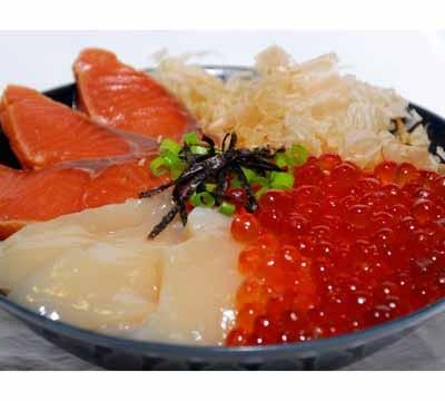 しべつ鮭三代漬け丼